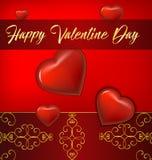 Valentine Day Greeting Card Foto de archivo libre de regalías