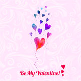 Valentine day greeting card Stock Photography