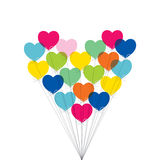 Valentine day greeting card design Royalty Free Stock Photo
