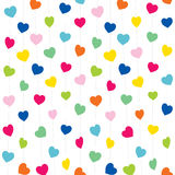 Valentine day greeting card design Stock Images