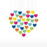 Valentine day greeting card design Stock Photo