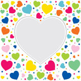 Valentine day greeting card design Royalty Free Stock Image