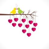 Valentine day greeting card design Stock Photos