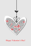 Valentine day greeting card Stock Images