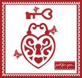 Valentine Day greeting card royalty free illustration