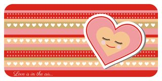 Valentine day greeting card. Greeting card with lovely heart Royalty Free Stock Images