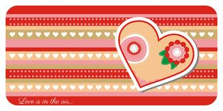 Valentine day greeting card. Greeting card with lovely heart Stock Image