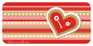 Valentine day greeting card. Greeting card with lovely heart Royalty Free Stock Photos