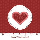 Valentine day greeting card Stock Photos
