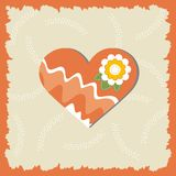 Valentine day greeting card. Greeting card with lovely heart Royalty Free Stock Image