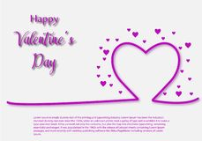Valentine Day greeting card template, design with red heart, valentine day celebration concept. Vector vector illustration