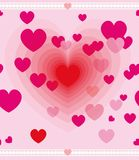 Valentine day greeting card vector Royalty Free Stock Image