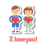 Valentine day greeting card. Royalty Free Stock Image