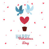 Valentine Day greeting card vector illustration. Valentine Day 14 february greeting card vector illustration. Save the date decoration typography romantic happy Stock Photo