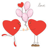 Valentine day greeting with hearts Stock Photography