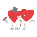 Valentine day greeting with hearts Stock Images