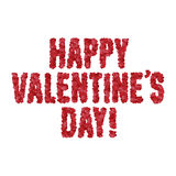 Valentine day greeting message made of hearts. Vector illustration. Royalty Free Stock Photo