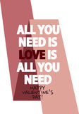 Valentine Day Greeting Quote Foto de archivo