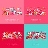 Valentine Day Greeting Set Royalty Free Stock Images