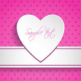 Valentine day greeting with textured background stock photo