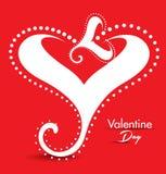 Valentine Day Gretting Card astratto Fotografie Stock