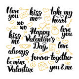 Valentine Day Hand Drawn Lettering Royalty Free Stock Images
