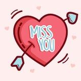 Valentine day Hand drawn typography royalty free illustration