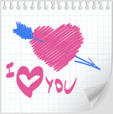 Valentine day hand drawn vector Stock Image