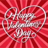 Valentine Day Happy Valentines Day-Hintergrund-Vektor-Bild Lizenzfreie Stockfotos