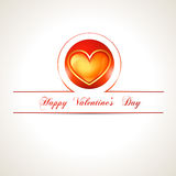Valentine day heart. Beautiful vector valentine day heart illustration stock illustration
