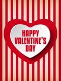 Valentine Day Heart auf Retro- Hintergrund Lizenzfreies Stockbild