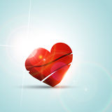 Valentine day heart background Royalty Free Stock Images