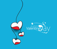 Valentine Day Heart Banner Royalty Free Stock Photos