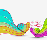 Valentine Day Heart Banner Royalty Free Stock Images