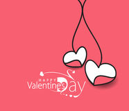 Valentine Day Heart Banner Royalty Free Stock Photography