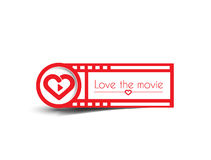 Valentine Day Heart Banner Stock Images