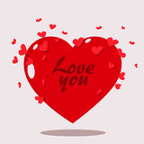 Valentine day heart. Clean clipart. Royalty Free Stock Image
