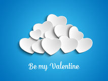 Valentine Day Heart Clouds dans le ciel Photographie stock libre de droits