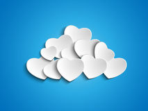 Valentine Day Heart Clouds in de Hemel Royalty-vrije Stock Afbeeldingen