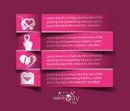 Valentine Day Heart Design Element. Valentine's Day Label Design Element Stock Photography