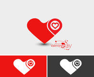 Valentine Day Heart Design Element Stock Images