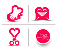 Valentine Day Heart Design Stock Photography