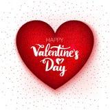 Valentine Day Heart felice Fotografie Stock Libere da Diritti