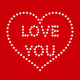 Valentine day heart  greeting card Stock Image