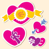 Valentine day heart. I love you sign Stock Images