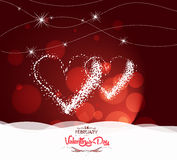 Valentine day with heart light Background Stock Photos