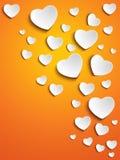Valentine Day Heart no fundo amarelo ilustração royalty free