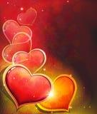 Valentine Day Heart no fundo vermelho Foto de Stock
