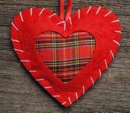 Valentine day heart pillow Stock Photos