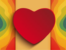 Valentine Day Heart on Rainbow Background Royalty Free Stock Images